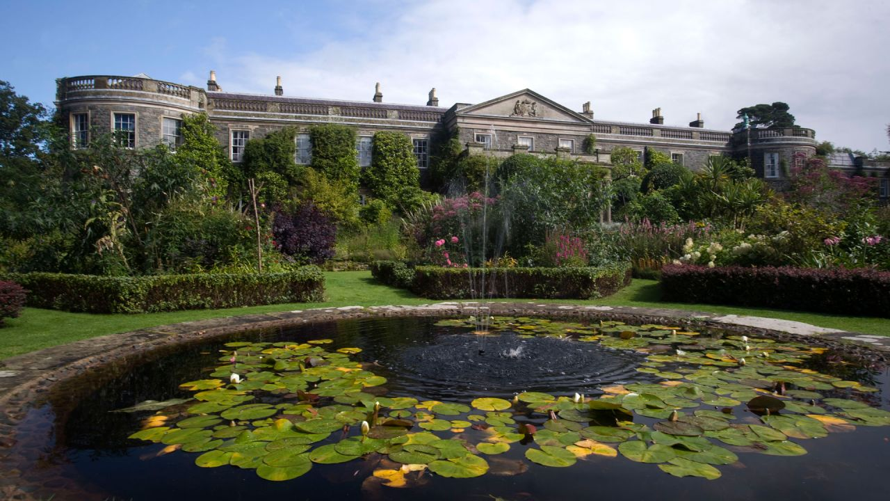 Mount Stewart gardens and pond