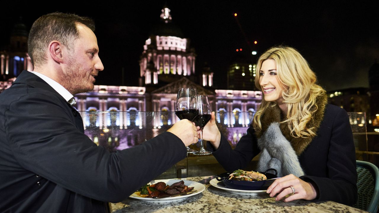 Belfast City Hall Couple Eating.jpg
