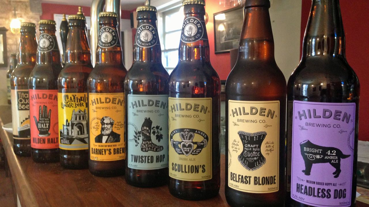 Hilden Brewery beer bottles