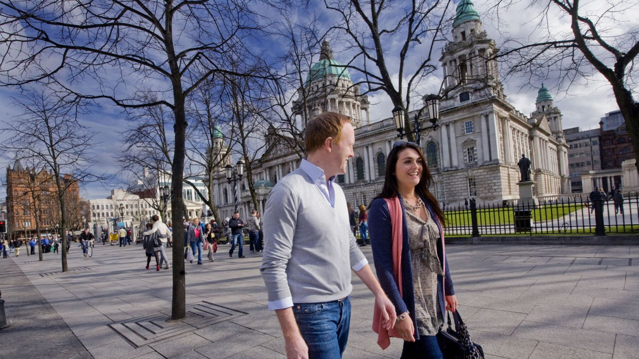 Belfast City Hall Couple Walking.jpg