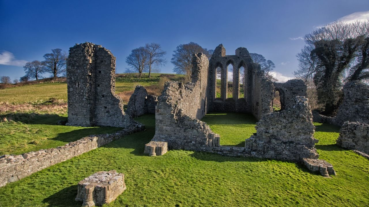 The Ruins of Inch Abbey Monestry used in as a film location in Game of Thrones