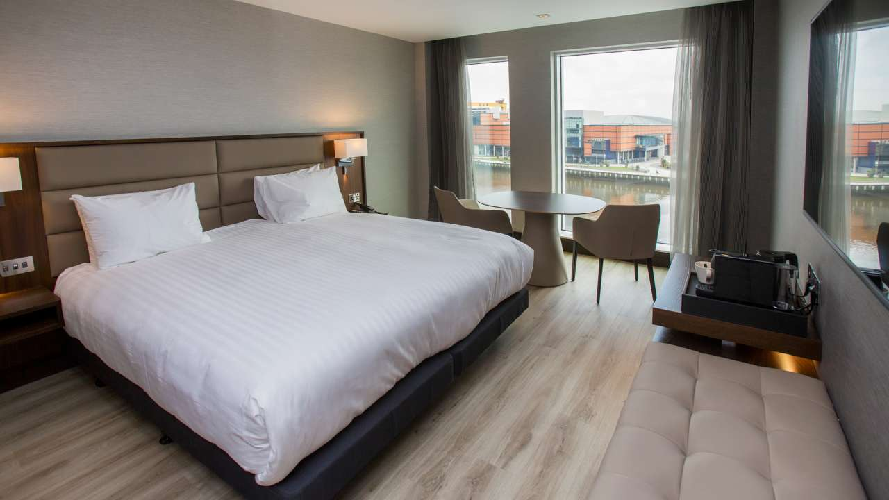 Bedroom at the AC Hotel Belfast