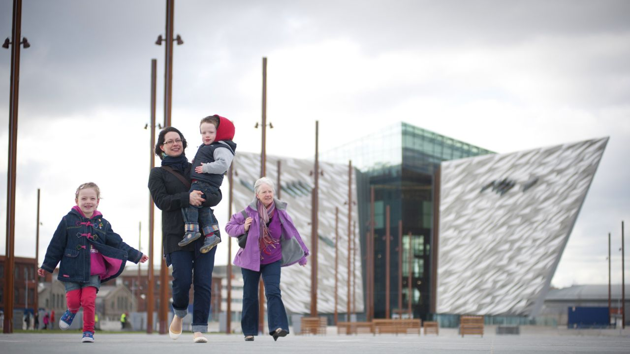 Family at Titanic Belfast