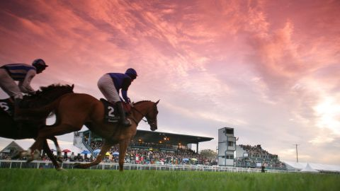 Down Royal Racecourse at Sunset