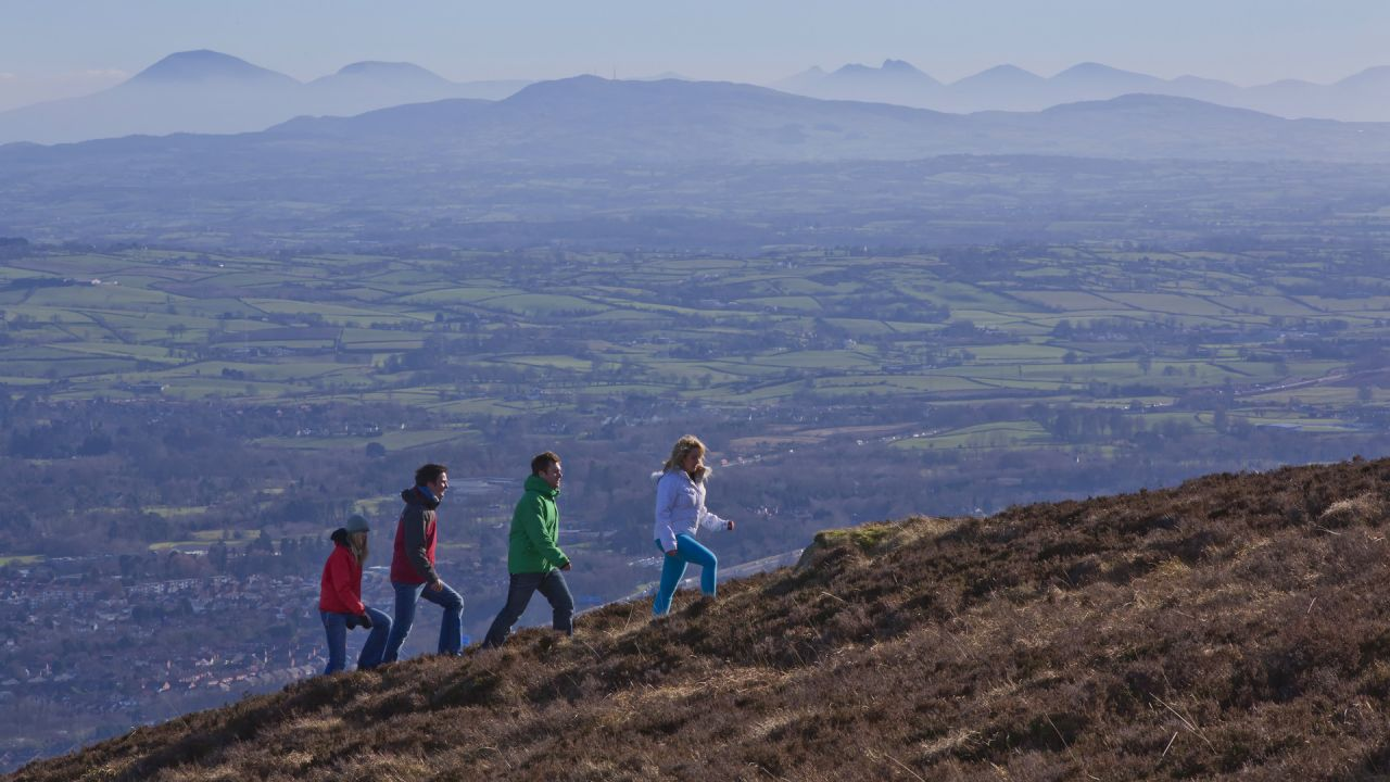 Walkers Climbing Divis Mountain